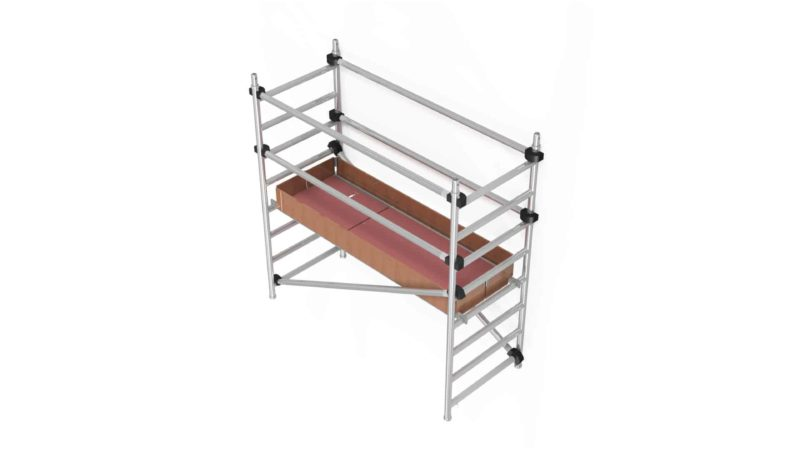 Trabattelli in Alluminio Con Aste Diagonali piano